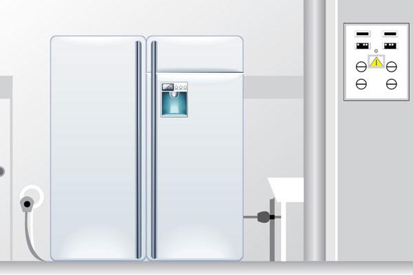 Используйте заземленную розетку для подключения холодильника