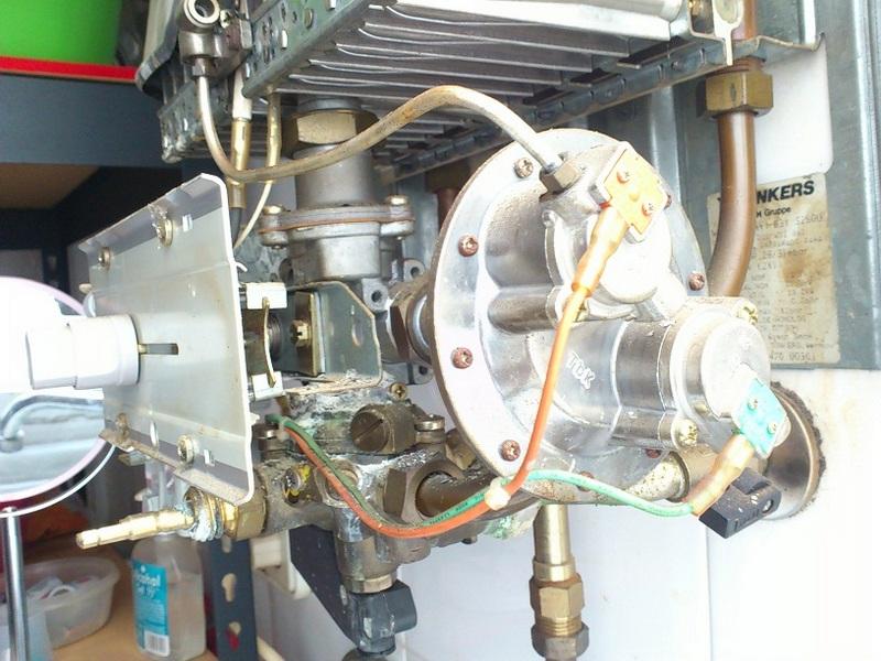 Внутренне строение газовой колонки