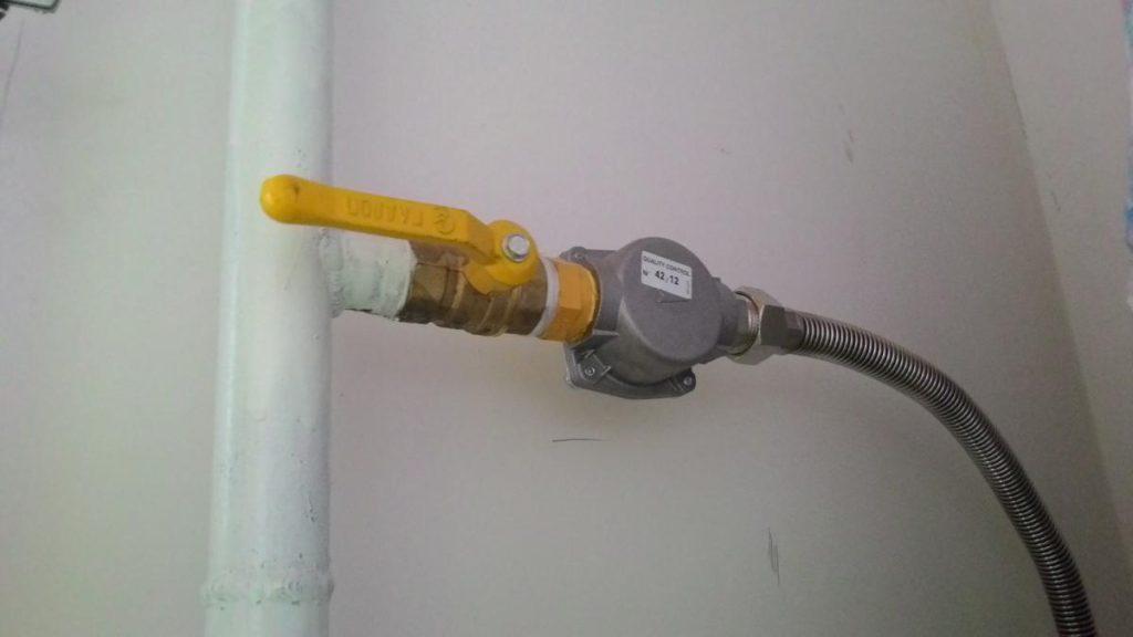 Фильтр на линии подачи газа к котлу