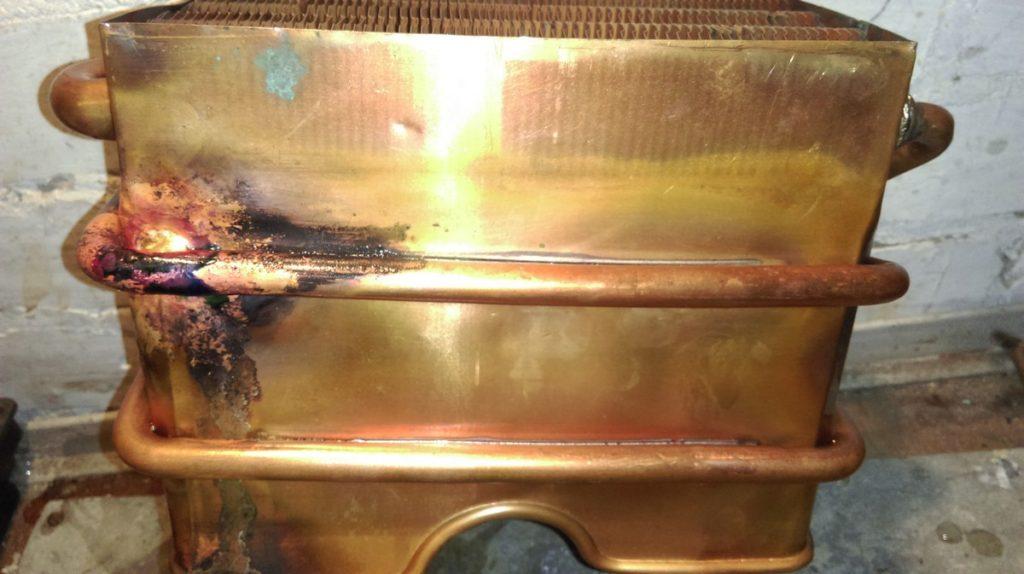 Вид теплообменника после пайки