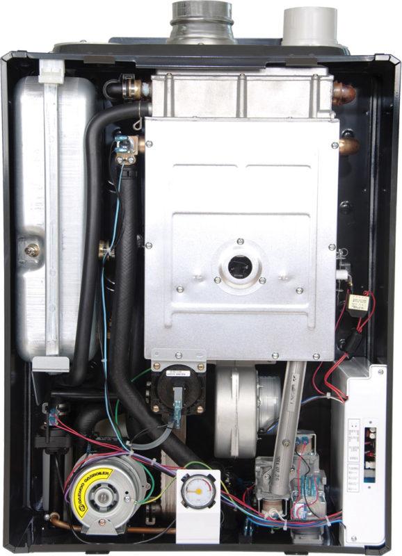 Внутреннее устройство газового котла Дэу