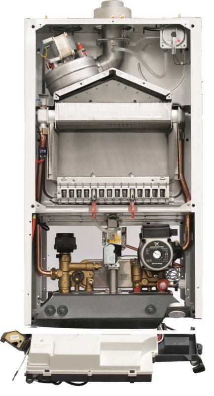 Внутреннее устройство газового котла Бакси