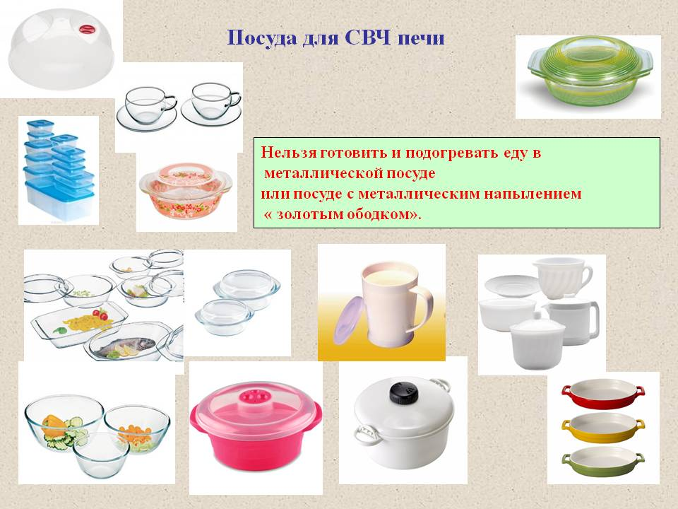 Запрещенная и разрешенная посуда для СВЧ