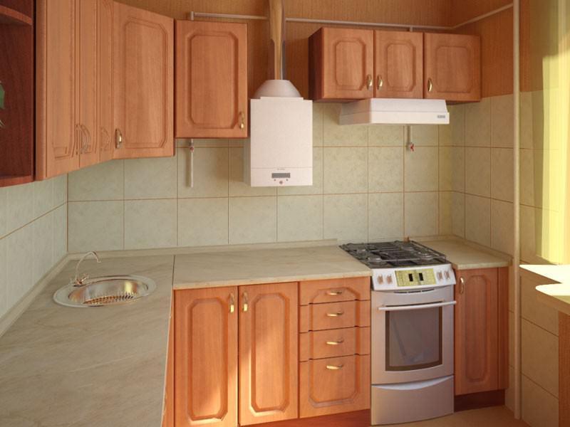 Газовая колонка в кухонном интерьере