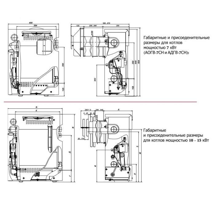 Схема устройства газовых котлов Тайга