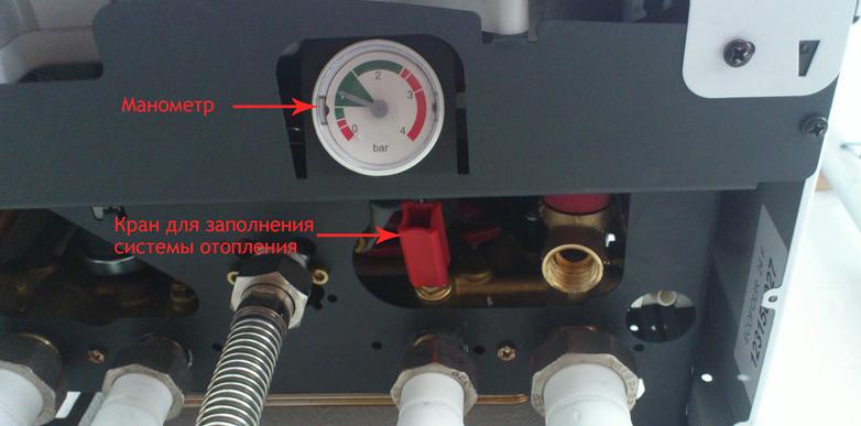 Система для регуляции давления в котле