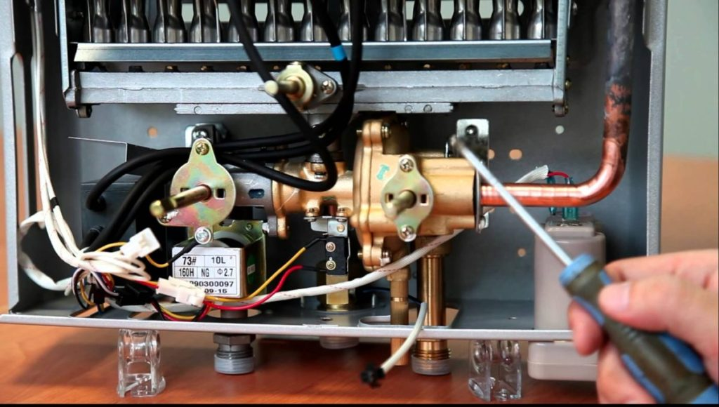 Внутреннее устройство газовой колонки