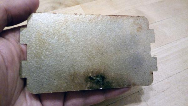 Прогар пластины из слюды