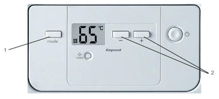 Установка температуры воды в системе отопления