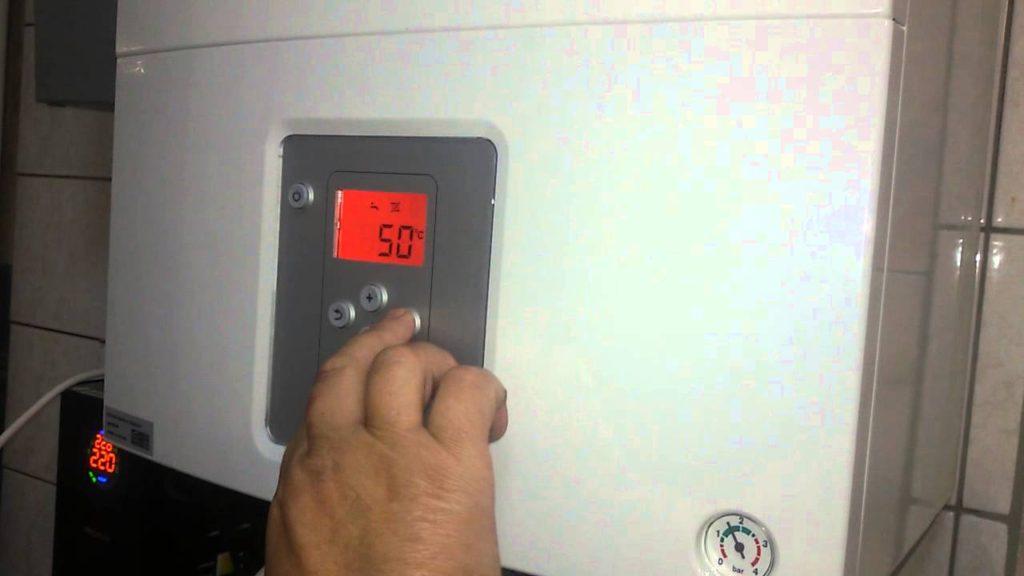 Установка температуры воды в газовом котле
