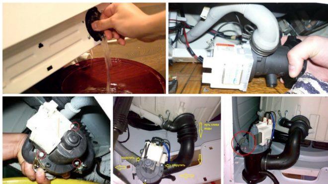 Как демонтировать помпу в стиральной машине