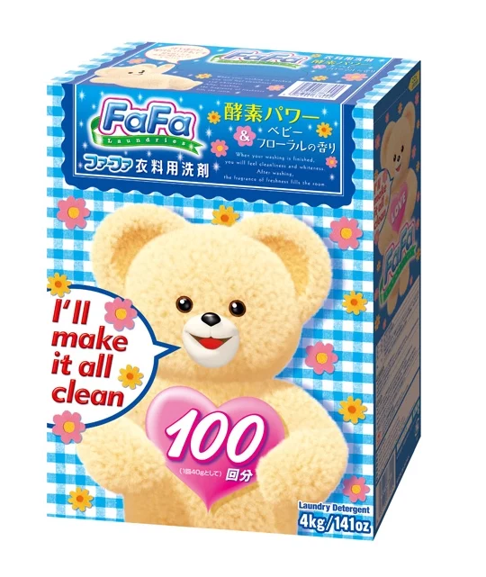 Японский порошок NS FaFa Japan Baby floral для детских вещей