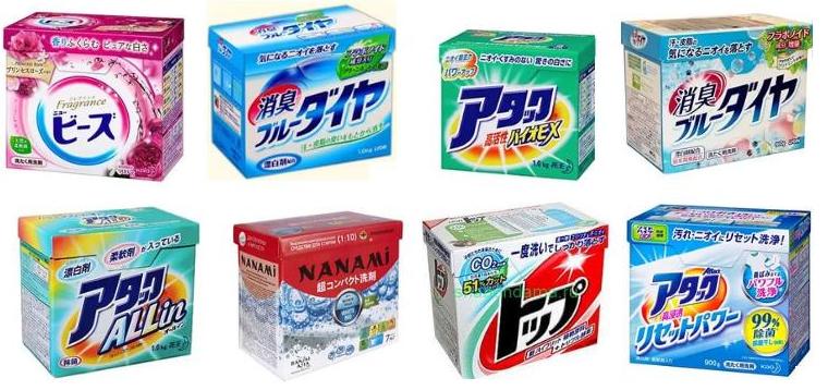 Разнообразие японских стиральных порошков