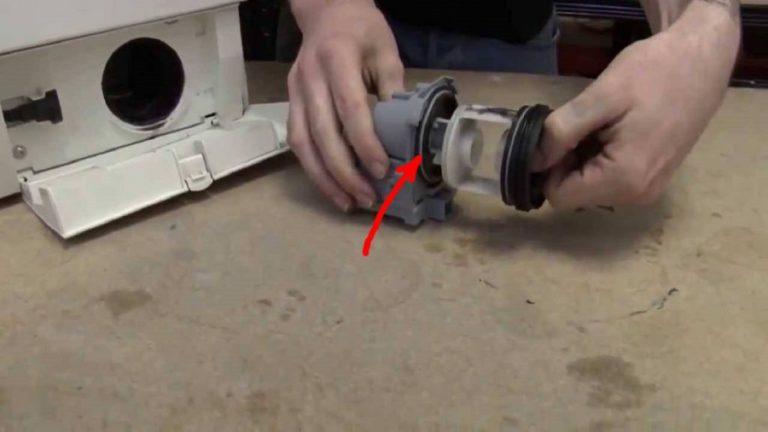 Отсоединение фильтра от насоса