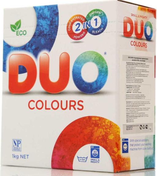 Биоразлагаемый порошок Duo Colours  для цветных тканей