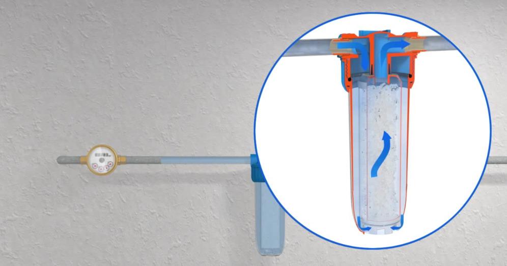 Механизм очищения воды в полифосфатном фильтре
