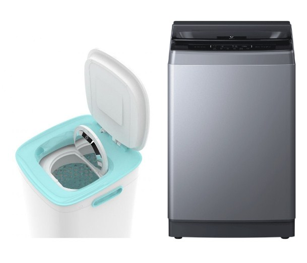 Модели oyu Motor Fish Mini Smart Washing Machine (White) и Viomi Yunmi Wave Wheel Washing Machine (Grey)