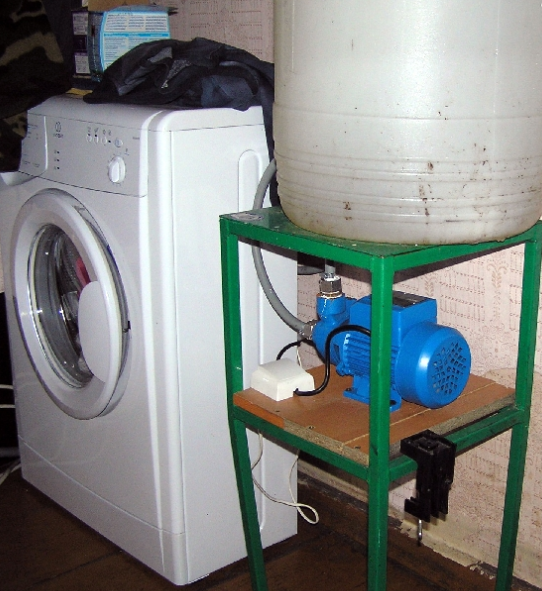 Подача воды к СМА от бочки