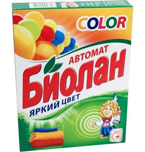 """Упаковка стирального порошка """"Биолан Яркий цвет"""""""