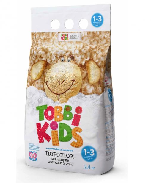 Универсальный порошок для одежды детей 1-3 лет Tobbi Kids 1–3