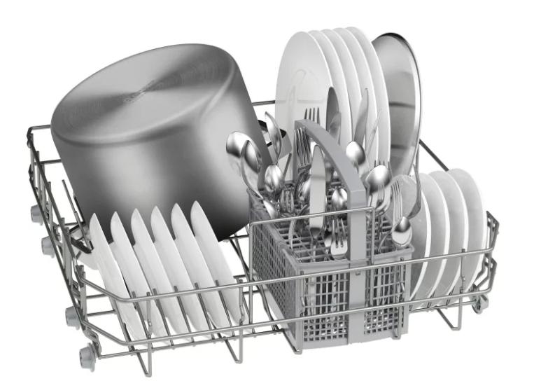 Размещение посуды в бункере ПММ