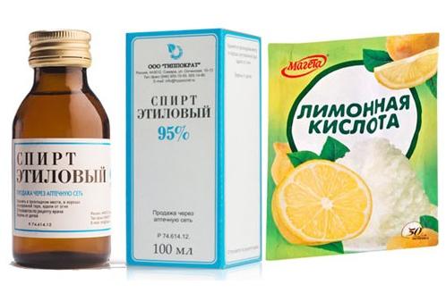 Этиловый спирт с лимонной кислотой