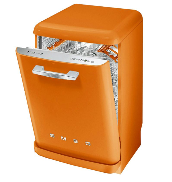 Оранжевый дизайн ПММ Smeg LVFAB