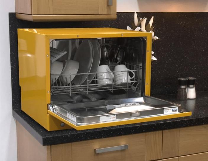 Компактная настольная ПММ Bosch SKS 50E11 в желтом исполнении