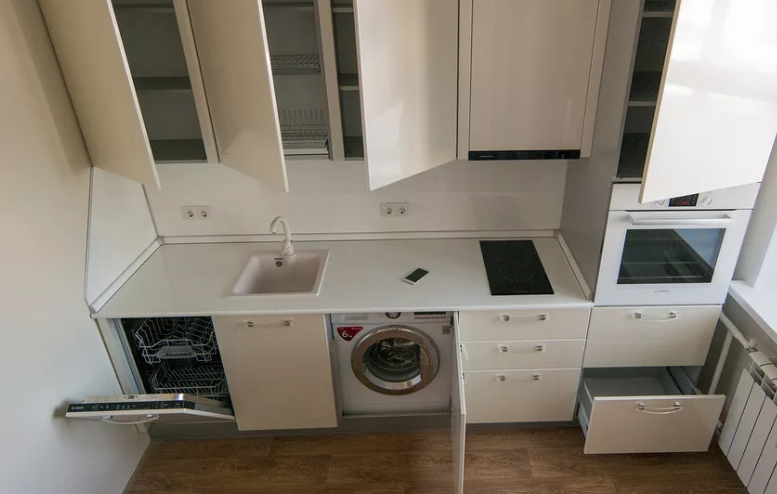 Как встроить посудомоечную машину в пенал