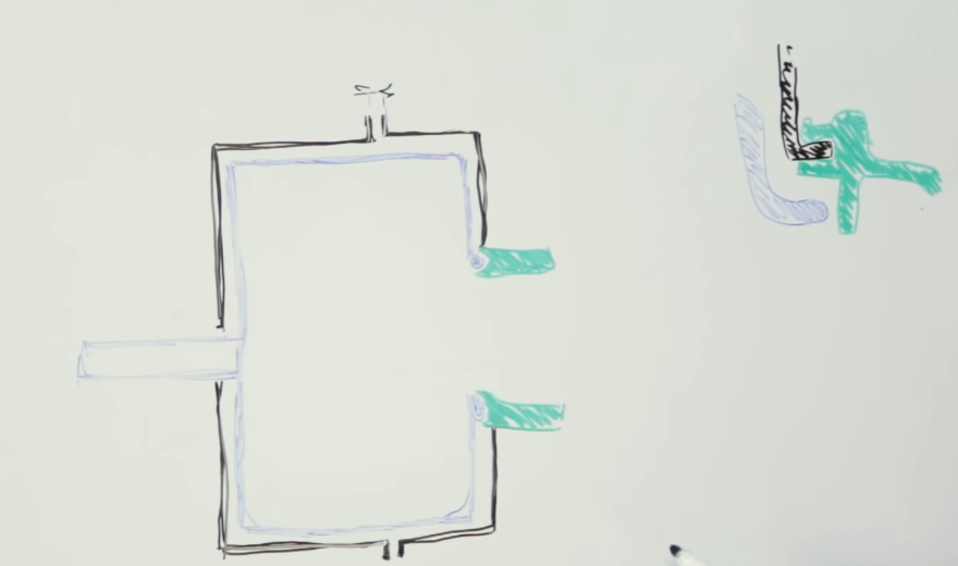 Схематический рисунок СМА в разрезе