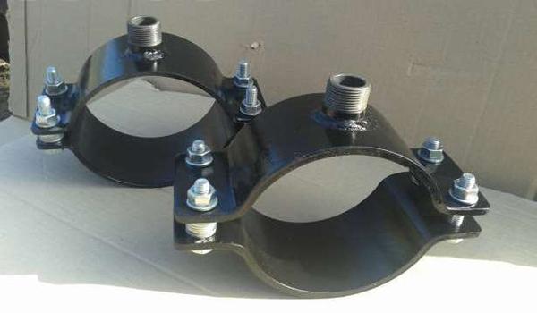Хомуты для оперативной врезки в трубу